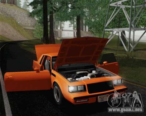 Buick GNX 1987 para GTA San Andreas interior