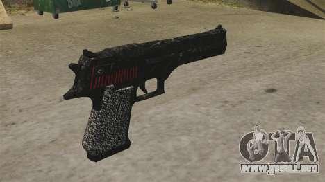 Desert Eagle pistola Propa Gangsta para GTA 4 segundos de pantalla