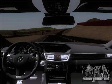 Mercedes-Benz E63 AMG 2011 Special Edition para la vista superior GTA San Andreas