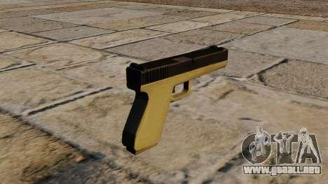 Glock bicolor para GTA 4 segundos de pantalla