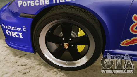 Porsche 911 Sport Classic 2010 Red Bull para GTA 4 vista hacia atrás
