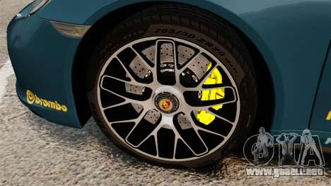 Porsche 911 Turbo 2014 [EPM] Alpinestars para GTA 4 vista hacia atrás
