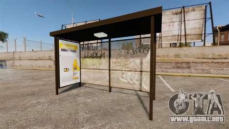 Nuevos carteles de publicidad en las paradas de  para GTA 4 tercera pantalla