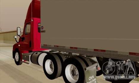 Freghtliner Cascadia Daycab 6x4 para la visión correcta GTA San Andreas