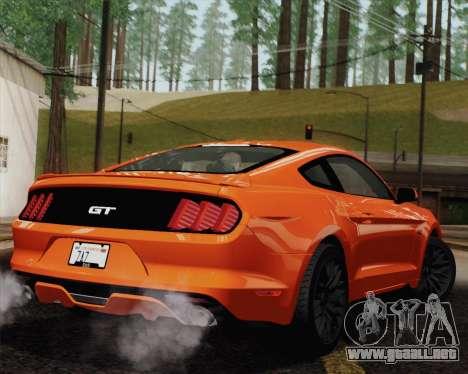Ford Mustang GT 2015 para el motor de GTA San Andreas