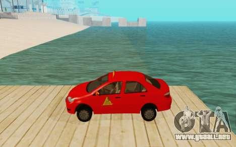 Toyota Vios Taxi Costa Rica para GTA San Andreas left