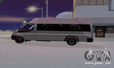 Ford Transit Jumgo para GTA San Andreas left