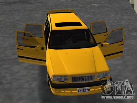 Volvo 850 R Estate para GTA Vice City vista interior