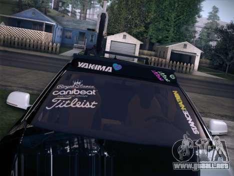Audi Avant RS6 LowStance para GTA San Andreas vista hacia atrás