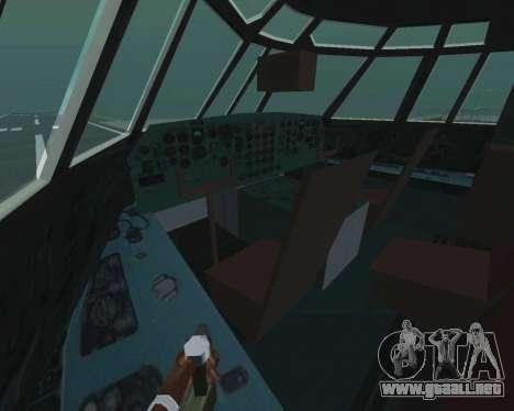 Il-76td v1.0 para visión interna GTA San Andreas