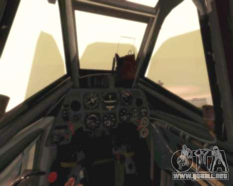Bf-109 G6 para visión interna GTA San Andreas