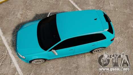 Audi RS3 Sportback [Typ 8PA] 2011 para GTA 4 visión correcta