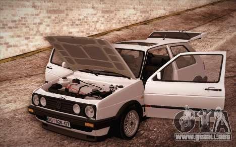 Volkswagen Golf Mk2 GTI para visión interna GTA San Andreas