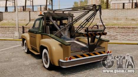 Towtruck Restored para GTA 4 Vista posterior izquierda