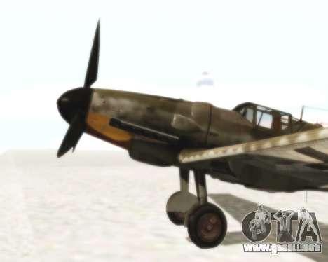 Bf-109 G6 para la visión correcta GTA San Andreas