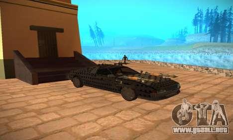 Cheetah Zomby Apocalypse para GTA San Andreas vista hacia atrás