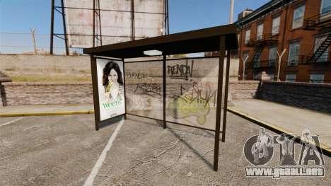Nuevos carteles de publicidad en las paradas de  para GTA 4 segundos de pantalla