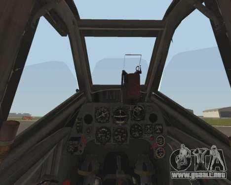 Bf-109 G6 v1.0 para vista lateral GTA San Andreas