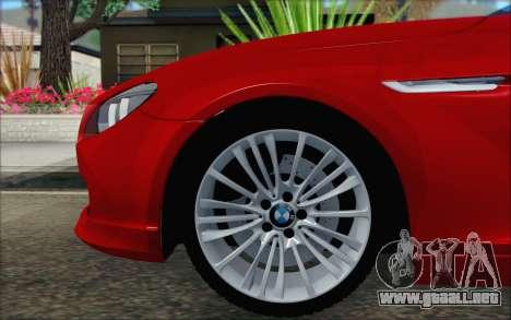 BMW 6 Gran Coupe v1.0 para GTA San Andreas vista posterior izquierda