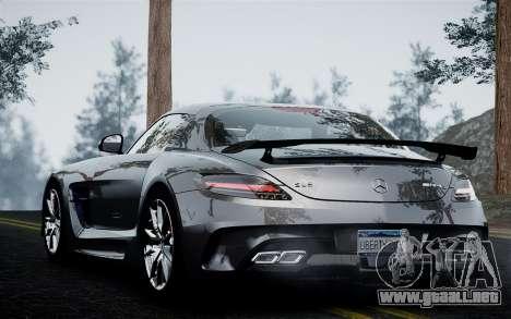 Mercedes-Benz SLS AMG Black Series 2014 para GTA 4 Vista posterior izquierda