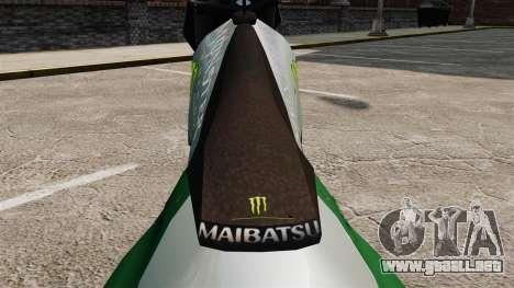 Sanchez Monster Energy para GTA 4 Vista posterior izquierda