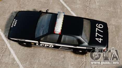 GTA V Vapid Police Cruiser [ELS] para GTA 4 visión correcta