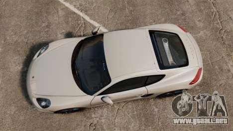 Porsche Cayman S 981C para GTA 4 visión correcta