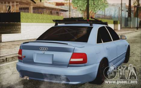 Audi S4 Hellaflush para GTA San Andreas left