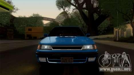 Subaru Legacy 2.0 RS (BC) 1989 para GTA San Andreas vista hacia atrás