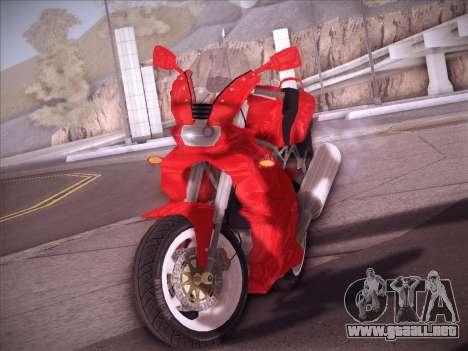 Ducati Supersport 1000 DS para GTA San Andreas vista hacia atrás