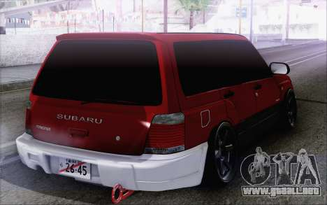 Subaru Forester Hellaflush para GTA San Andreas left