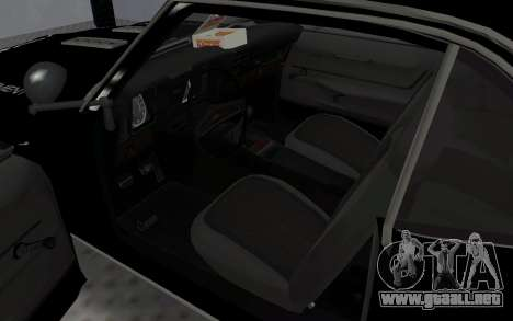 Chevrolet Camaro SS Police para GTA San Andreas vista hacia atrás
