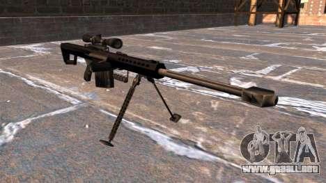 Rifle de francotirador Barrett M82A1 luz cincuen para GTA 4