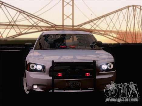 Dodge Charger San Andreas State Trooper para visión interna GTA San Andreas