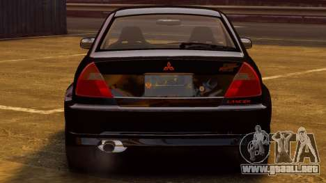 Mitsubishi Lancer Evolution VI GSR 1999 para GTA 4 visión correcta