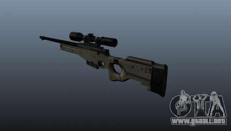 Rifle de francotirador AI Arctic Warfare policía para GTA 4 segundos de pantalla