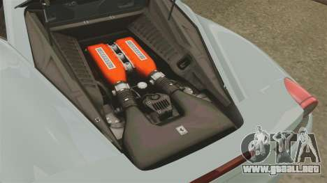 Ferrari 458 Italia 2009 para GTA 4 vista interior