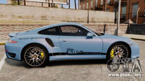 Porsche 911 Turbo 2014 [EPM] KW iSuspension para GTA 4 left