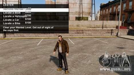 Servicios especiales Merryweather y Lester para GTA 4 adelante de pantalla