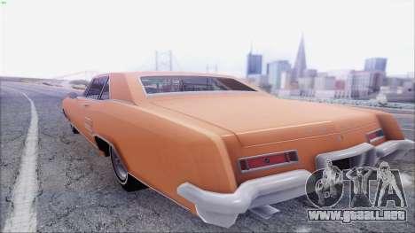Buick Riviera 1963 para GTA San Andreas vista posterior izquierda
