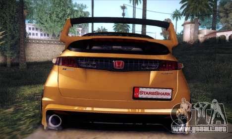 Honda Civic Type R Mugen para la vista superior GTA San Andreas