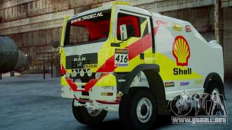 MAN TGA Dakar Truck Shell para GTA 4 left