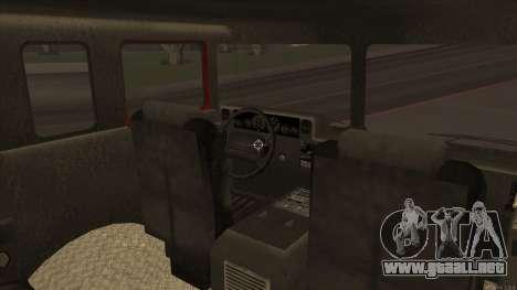 Firetruck HD from GTA 3 para GTA San Andreas vista hacia atrás
