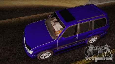 Toyota Land Cruiser 100VX para GTA San Andreas vista hacia atrás