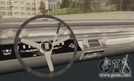 Cadillac Deville Lowrider 1967 para GTA San Andreas vista posterior izquierda