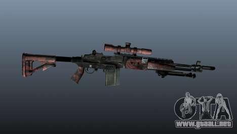 Rifle de francotirador M21 Mk14 v5 para GTA 4 tercera pantalla