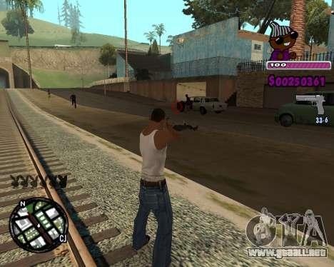 C-HUD for Ballas para GTA San Andreas segunda pantalla
