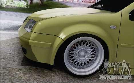 Volkswagen Bora Stance para GTA San Andreas vista posterior izquierda