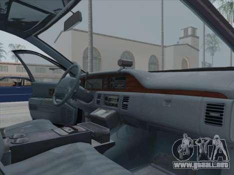 Chevrolet Caprice LAPD 1991 [V2] para GTA San Andreas vista hacia atrás