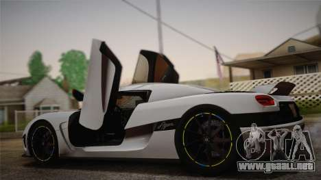 Koenigsegg Agera para GTA San Andreas left